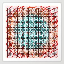 Color line abstract design print Art Print