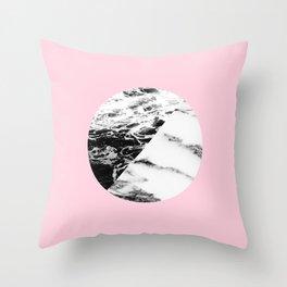 marble circle Throw Pillow