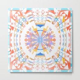 Rainbow Earth Souls Healing Mandala Metal Print