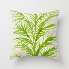 Lime Palms Throw Pillow