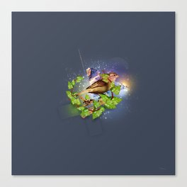 Even the sparrow Canvas Print