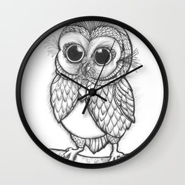 OWL ON THE LOOK OUT.... Wall Clock