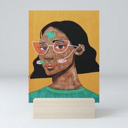 Current fashion girl Mini Art Print