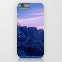 Romantic Sunset in the Snowy Mountains #2 #art #society6 iPhone Case