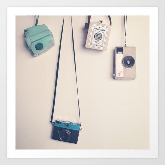 Hanging Cameras II Art Print