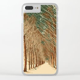 abstract paint forest Clear iPhone Case