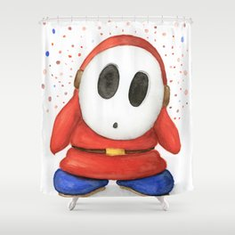 Confused Shy Guy Shower Curtain