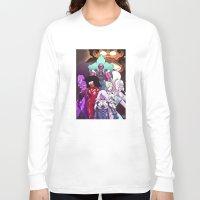 neon genesis evangelion Long Sleeve T-shirts featuring Neon Gem Evangelion by AMC Art