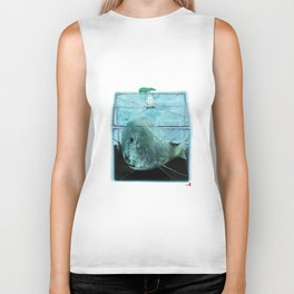 Time Rabbit and Whale Biker Tank