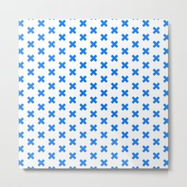 CROSS ((true blue)) Metal Print