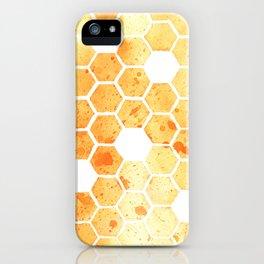 Golden Honeycomb iPhone Case