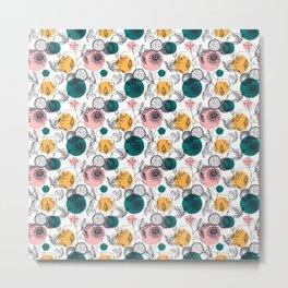 Passionfruit Pattern Metal Print