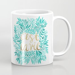 That's Life – Turquoise & Gold Coffee Mug