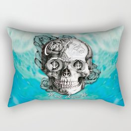 Can't tie me down Nautical Skull. Rectangular Pillow