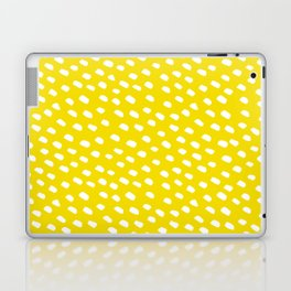 Brush Dot Pattern Yellow Laptop & iPad Skin