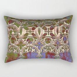 Portugal, gothic tracery at Batalha, the Knights Templar Monastery of Santa Maria da Vitoria  Rectangular Pillow