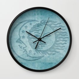 Sun Moon And Stars Batik Wall Clock