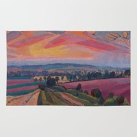 gore Area & Throw Rugs featuring Spencer Gore - The Icknield Way by ArtMasters
