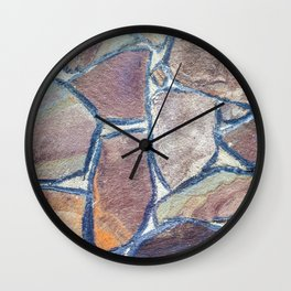 Background of stone wall texture Wall Clock