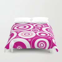 circles Duvet Covers featuring Circles by Alice Gosling