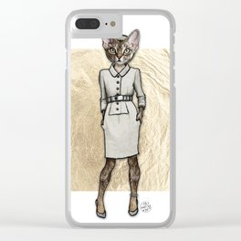 La Coquine, Couture Kitty Clear iPhone Case
