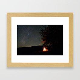Underneath the Stars of Arkansas Framed Art Print