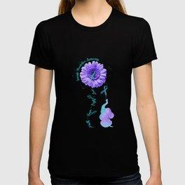 Faith Hope Fight Love Elephant Suicide Prevention Awareness T-Shirt T-shirt