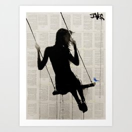 the freedom of sometimes Art Print