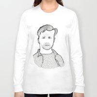 kerouac Long Sleeve T-shirts featuring Jack Kerouac wearing his words by daniel davidson