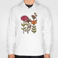 valentina Hoodies featuring In the garden by Valentina Harper