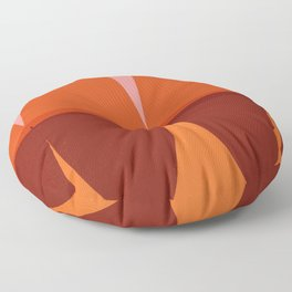 Orange and Pink Eliptical Floor Pillow