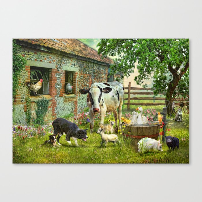 Barnyard Chatter Canvas Print