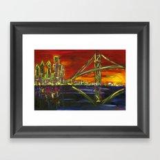 Ben Franklin Sunset Framed Art Print