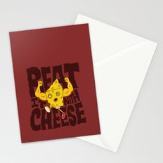 Beat it with Cheese Stationery Cards