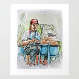 Seller/ Penjual Tahu Gejrot Art Print