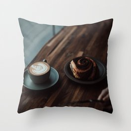 At the Cafe V Throw Pillow