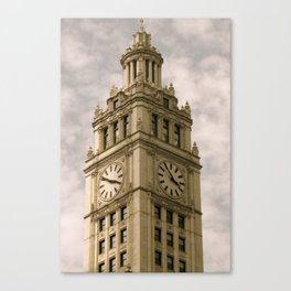 Chicago Clock Tower Canvas Print