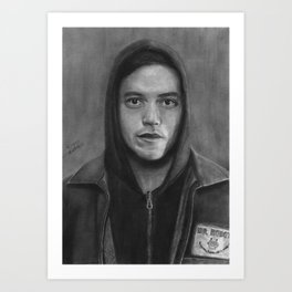 Elliot Alderson Art Print