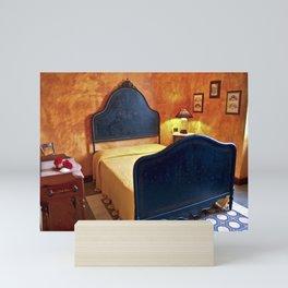RED ANTIQUE SARDINIAN BEDROOM  Mini Art Print
