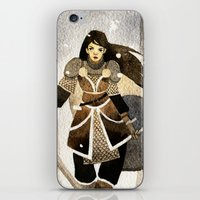 warrior iPhone & iPod Skins featuring Warrior by Pauliina Hannuniemi