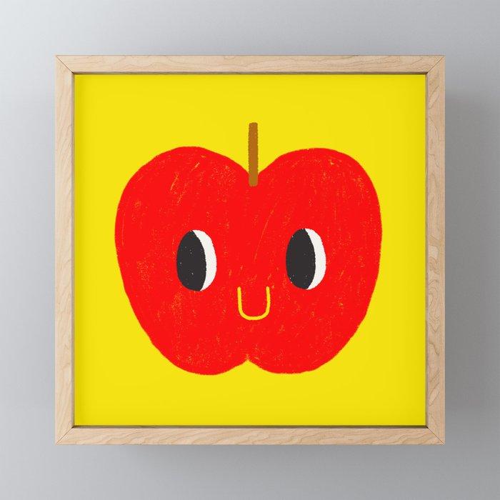 Apple friend Framed Mini Art Print