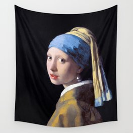 Girl with a Pearl Earring by Johannes Vermeer (c. 1665) Wall Tapestry