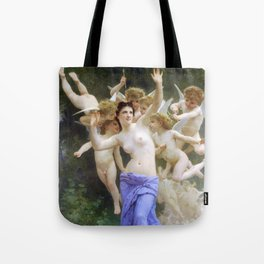 The Invasion (The Wasp's Nest) Le Guêpier by William-Adolphe Bouguereau Tote Bag