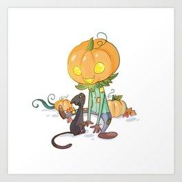 Little jack-o'-lantern Art Print