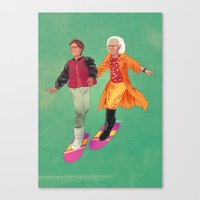 back to the future Canvas Prints featuring Back to the Future by Dave Collinson