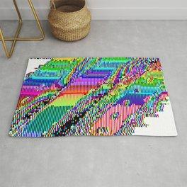 Equatorial Rainbow (Glitch Art / Pixel) Rug
