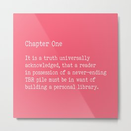 Chapter One - Pink Metal Print