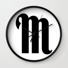 Posting Letters - Moriarty (M) Wall Clock