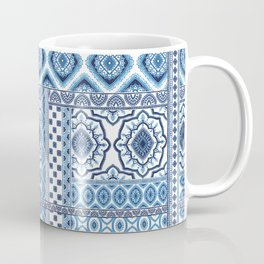 Blue and white ethic tiles Coffee Mug