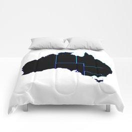Australia States In Silhouette Comforters